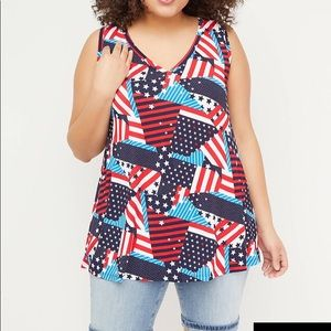 Lane Bryant Printed V-Neck Swing Tank
